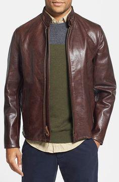 Schott NYC 'Café Racer' Leather Jacket