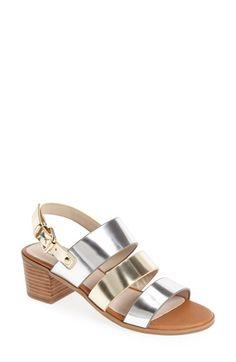 Nordstrom Heels - Dune London 'Jordann' Block Heel Sandal (Women) available at Block Heel Shoes, Celebrity Look, Dune, Shoes Sandals, Nordstrom, London, Metal, Summer 2015, Summer Shoes