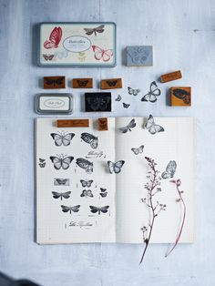 Butterfly Rubber Stamps - Crafting - Party