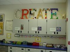 create for art room. recycled crayons,pencils, marker caps,