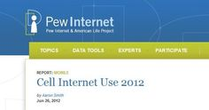 REPORT: MOBILE  Cell Internet Use 2012