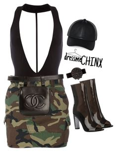 """""""dressmeCHINX"""" by naomichinx ❤ liked on Polyvore featuring Yves Saint Laurent, Chanel, Uniform Wares and Wilfred"""