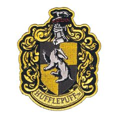 Gorgeous Hufflepuff Crest Patch