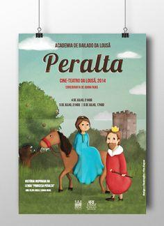Poster & Illustration - academia de bailado da lousã by Rita Duque, via Behance
