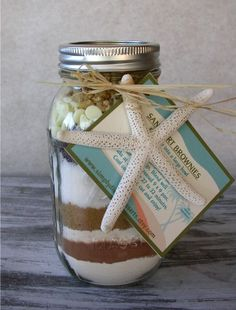 Sand Art Brownies gourmet mix in a jar by SimplyDivineDesserts