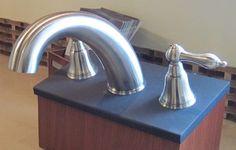 Bathroom faucet display Bathroom Faucets, Showroom, Sink, Display, Home Decor, Bath Taps, Sink Tops, Floor Space, Vessel Sink