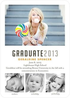 Graduation Announcements Your Yearbook - Front : White