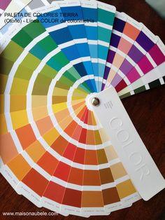 Paleta Tierra (Otoño), es una paleta cálida con contraste. Para mas información sobre la línea de colorimetría www.maisonaubele.com