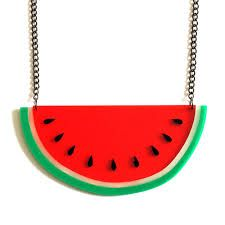 watermelon necklace - Google Search