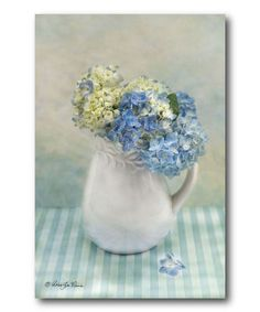 Love this Hydrangea Morning Wrapped Canvas by Courtside Market on #zulily! #zulilyfinds