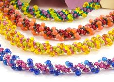 All major brands of seed beads, direct from the factory. Amazing selection and value. Your seed bead superstore! Seed Bead Bracelets Tutorials, Beaded Bracelets Tutorial, Necklace Tutorial, Beading Tutorials, Necklace Ideas, Beading Ideas, Seed Bead Necklace, Seed Beads, Bead Earrings