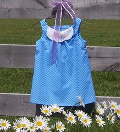 Pinafore Top Girls Size 6/7 Blue Gingham by GreenbriarCreations, $14.00 #etsy # homespunsociety