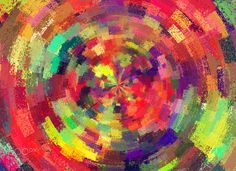 Modern art 21: color circles - ''An artist is the one who creates something either from nothing or everything...'' Alp Icoz