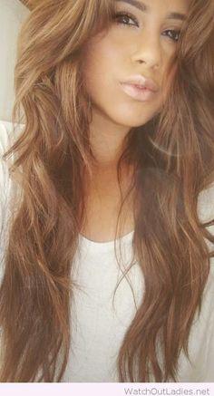 Amazing caramel brown hair