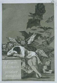 De slaap van de rede brengt monsters voort, Francisco José de Goya y Lucientes, 1797 - 1799 De slaap van de rede brengt monsters voort, Francisco José de Goya y Lucientes, 1797 - 1799 - Search - Rijksmuseum