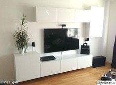 Album – 5 – Banc TV Besta Ikea, réalisations clients (série 2 – - Home Decor Living Room Units, Ikea Living Room, Living Room Cabinets, Living Room Designs, Ikea Cabinets, Tv Cabinet Design, Tv Unit Design, Ikea Tv Console, Ikea Tv Stand