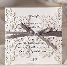 Wrap & Pocket Wedding Invitations 20-Invitation Cards Classic Style Embossed Paper #weddinginvitationsclassic