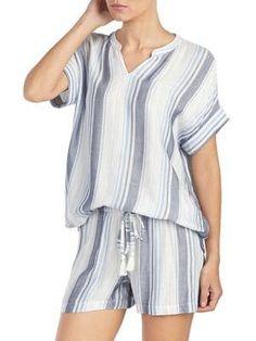 532d09129b Betsey Johnson - Two-Piece Satin-Trim Pajama Set