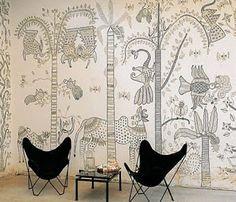madhubani art on wall