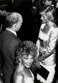 Diana meets Kylie Minogue at Royal Bicentennial Gala  January 1988! www.princessdianabookboutique.com