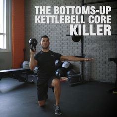 During this workout, you'll hold the kettlebell upside down to challenge the muscles in your core that stabilize your spine. Here's how to do it.