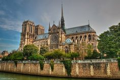 Notre Dame Cathedral from the River Seine