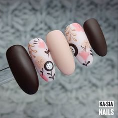30 ideas which nail polish to choose - My Nails Perfect Nails, Gorgeous Nails, Cute Acrylic Nails, Cute Nails, Nail Art Fleur, Floral Nail Art, Pretty Nail Art, Manicure E Pedicure, Stylish Nails