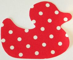 Duck Iron or Sew On Fabric Appliqe Tanya by theappliquefinery, so cute as a baby shower idea