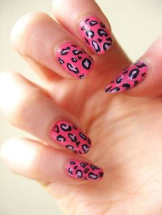 Pastel Pink Christmas nails,Leopard Pastel Pink nails for Christmas #pink #girls #nails #christmas www.loveitsomuch.com