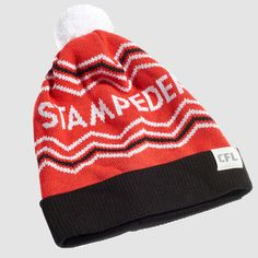 CFL Calgary Stampeders Toque. Dress in style this winter with the Stampeders toque. Whether you're just walking through the streets of Calgary or in the stands at McMahon Stadium, make sure you #RepYourHood with this limited edition toque.  An official Tuck Shop and CFL collaboration.  Proudly Made in Canada. Calgary, Collaboration, Beanie, Walking, Canada, Knitting, Winter, How To Make, Dress