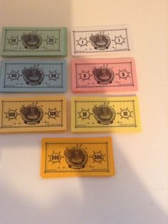 2005 Spongebob Squarepants Monopoly Money Currencency Replacement Pieces #ParkerBrothers