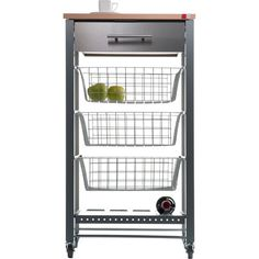 Hahn April Kitchen Trolley a stylish kitchen storage solution. steel drawer, 3 baskets & a wine rack. Kitchen Storage Trolley, Kitchen Storage Solutions, Diy Kitchen Storage, Kitchen Items, Kitchen Cart, Home Decor Kitchen, Kitchen Utensils, Storage Cart, Beech Kitchen