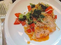 The Briny Lemon: Pan-Seared Salmon with Sweet-and-Sour Orange Sauce