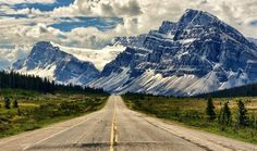 """""""Timeless Road"""" - Icefields Parkway in northern Banff National Park in Alberta, Canada - photo by Jeff Clow on Au Pair, Beautiful Roads, Beautiful Places, Beautiful Scenery, Beautiful Pictures, Beautiful Sites, Amazing Places, Canada Wallpaper Hd, Hd Wallpaper"""