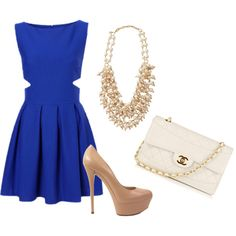 Blue and Nude, created by mdmccullough on Polyvore