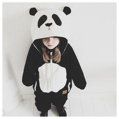 Mini Rodini Panda Suit via Kenziepoo