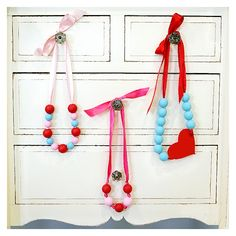 Valentine Day necklace or just a cute idea for a necklace craft for any occasion.