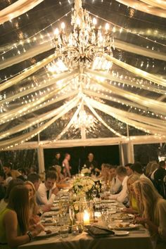 Stunning tent with lights Read more - http://www.stylemepretty.com/australia-weddings/2013/06/19/byron-bay-wedding-from-blumenthal-photography/