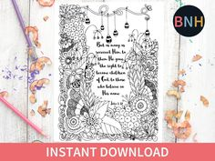 Excited to share the latest addition to my #etsy shop: John 1:12 Bible Coloring Page, Bible Coloring Page, Flowers, Printable Color, Bible Verse Coloring Page, Worship Coloring Page http://etsy.me/2oHI4NN #art #print #digital #john112 #wellwateredwomen #scriptureart