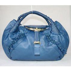 Fendi Spy Bag Braied Flowers 25173 Blue