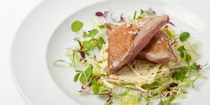 Adam Grey's pigeon recipe pairs the roast squab with a simple celeriac salad for a surprisingly easy meal. This recipe is a wonderful way to prepare pigeon. Quail Recipes, Great British Chefs, Celeriac, White Meat, Food Plating, Food Presentation, Fine Dining, Roast, Game