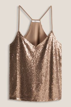 Esprit Damentops in 2019 Cute Summer Outfits, Classy Outfits, Trendy Outfits, Look Fashion, Girl Fashion, Fashion Outfits, Womens Fashion, Sparkly Crop Tops, Sparkle Outfit