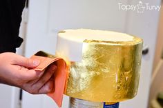 edible-gold-leaf-tutorial-cake  second-layer by imtopsyturvy.com,   via Flickr