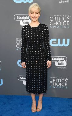 Emilia Clarke from 2018 Critics' Choice Awards Red Carpet Fashion  The Best Supporting Actress in a Drama Series nominee celebrates the success of Game of Thrones.