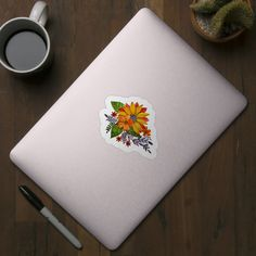 Check out this awesome 'Sunflower+watercolor' design on Watercolor Sunflower, Watercolor Design, Back To School, Floral Doodle, Doodles, Awesome, Check, Artist, Flowers