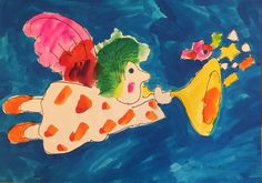 Saul Mandel Celebration 28x20 Original Watercolor $3000
