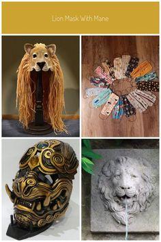 Lion Mask with Mane #lion mask