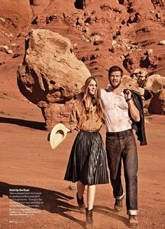 """West Dressed"" Florence Kosky for Glamour US October 2015"