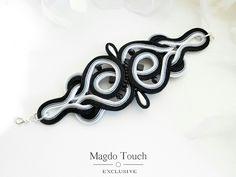 'Shades' OOAK soutache  bracelet. #soutache #bracelet #unique #modern #design #magdotouch #artistic #jewelry
