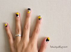 geometric manicure how-to.